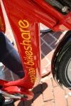 Close up of Capital Bikeshare bike detail