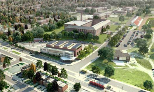 Concept Rendering of Car Barn Training Center